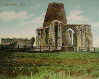 St Benet Abbey, Norfolk, England Vintage Unused Postcard