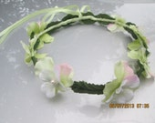 Flower girl hair wreath -  whimsical hair wreath - hippie hair wreath - floral head wreath - floral crown