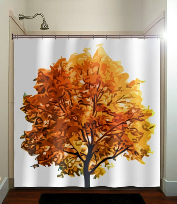 Fall Colors Autumn Tree Shower Curtain Bathroom By