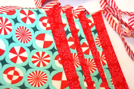 Large Fabric Bunting - Peppermint