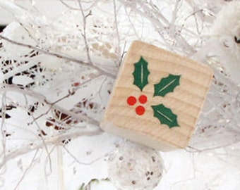 Holly Stamp (0.75 x 0.75in)
