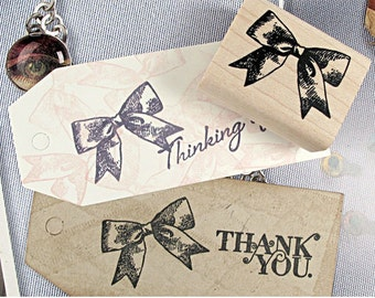 Vintage Ribbon Stamp (1.6 x 1.2in)