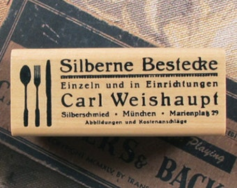 Silberne Bestecke Tableware Stamp (2.4 x 1in)