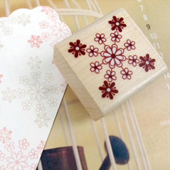 Cherish Flower Collage Stamp (1.3 x 1.3in)