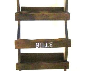 Wooden Mail Organizer