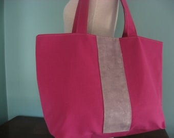 Extra Large Tote,  Beach BAG, Diaper BAG, Travel BAG, Knitting Bag, Weekend Bag, Work Bag, Pink