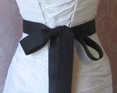 Black Grosgrain Ribbon, 1.5 Inch Wde, Ribbon Sash, Bridal Sash, Wedding Belt, 4 Yards