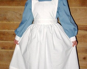 Historical Pioneer Costume  Clara Barton Nightingale -Dusty Blue Civil War Nurse- Child sizes up to 14