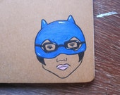 FREE SHIPPING WORLDWIDE Hand Painted Moleskine Mini Journal Blank Enid Ghost World Katherine and Punky