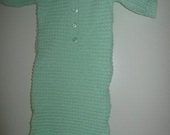 light green babys sleeping bag