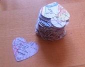 100ct die cut map hearts