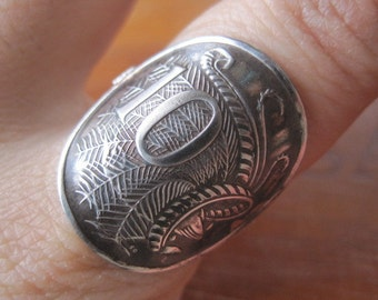 Australia Lyrebird 10 Cent Ring with Sterling Silver Band MADE TO ORDER.