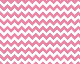 Small Chevron Fabric by Riley Blake Fabrics, Small Chevron in Hot Pink, 1 Yard