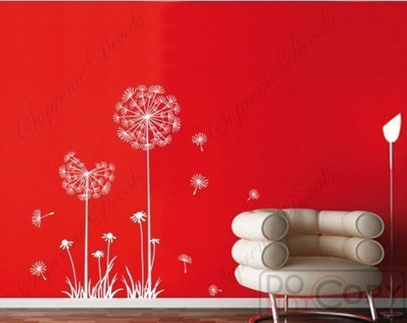 custom for Palazzolo - Dandelion -39 inch H- Wall Art Home Decors Removable Vinyl Wall Decals