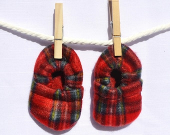 Mad Plaid Baby Booties