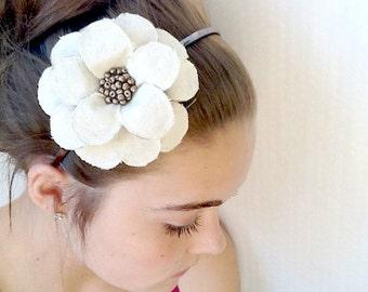 Twilled and Papered Daisy Headband