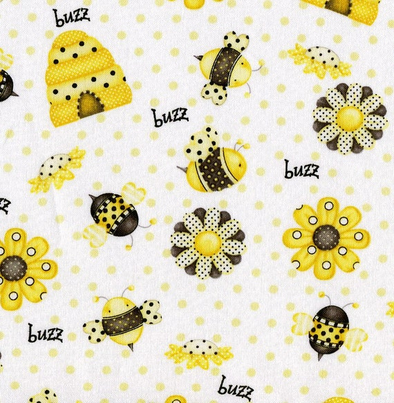 Bee Happy Henry Glass Fabric 1 Yard More Available