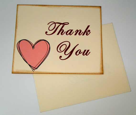 items similar to blank postcard style thank you cards