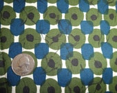 Graphic Cotton Print Fabric in Green, Blue and Black