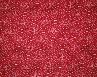 Lady in Red by Ro Gregg for Paintbrush Studios --Ogie Stripe Red Quilt Fabric