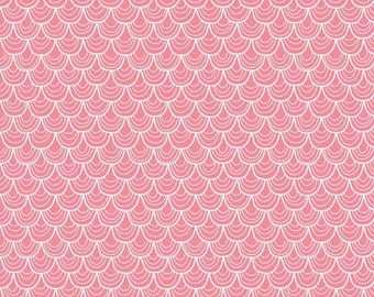 Riley Blake A Merry Little Christmas -- Pink Scallop Blender Quilting Fabric