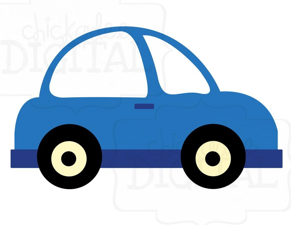 Little Blue Car Clipart