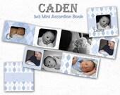 INSTANT DOWNLOAD - 3x3 Accordion mini template - Caden - 0006