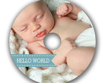 INSTANT DOWNLOAD - Cd/DVD Label Photoshop template - 0542
