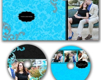 INSTANT DOWNLOAD -  Dvd Label and Dvd Case Photoshop template - W0507