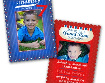 0557 LUXE Birthday Invitation Photoshop PSD Photo Card Template Photographers - All American - Millers, Whcc or Mpix