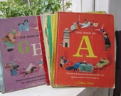 My First Golden Learning Library - A  Rare Set of 14 Little Golden Books 1960's