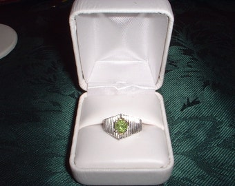 Peridot and Sterling Ring