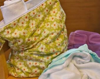 Wet Bag - Green Flower - Dry Bag