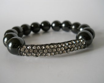 Magnetic Bead Bracelet 12mm with A Bling Bar