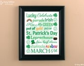 St.Patrick's Day Subway Art Print 8x10 #ART102