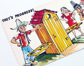 Postcards Hillbilly Humor Cabin Decor Paper Ephemera