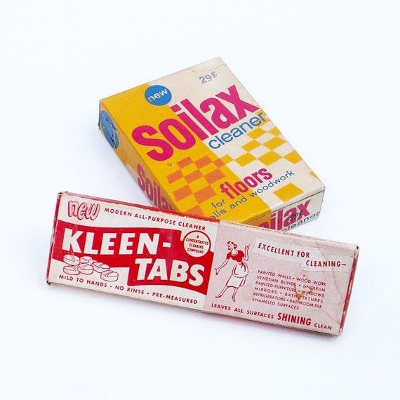 Vintage advertising boxes soilax kleen tabs by ailorsattic for Soil x cleaner