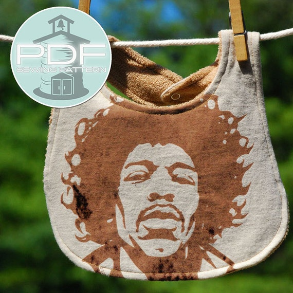 bib from t-shirt - upcycle recycle - new life to well loved shirts - great gifts  - PDF INSTANT DOWNLOAD