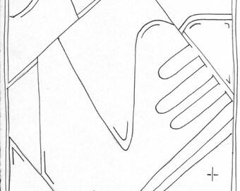 Abstract Line art 017 print