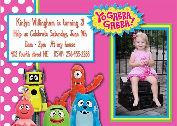 40th birthday ideas: yo gabba gabba birthday invitation templates, Birthday invitations