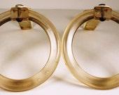 Art Deco Drapery Rings, FREE US Shipping, Pair, Festoon Rings, Swag Holders,Tie Backs, Drapery Hardware, Art Deco, Drapes, Curtains, Catalan