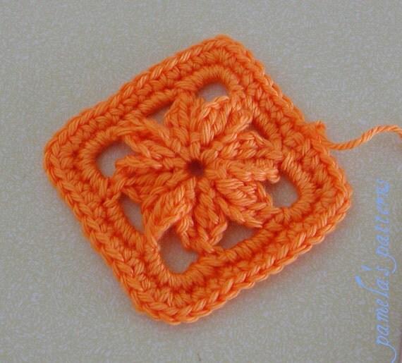 1 Inch Crochet Flower Pattern : Crochet Granny Square Flower 3 inch Granny Square, Granny ...