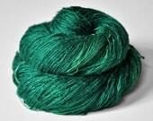 Shattered malachite - Tussah Silk Lace Yarn