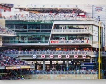 Minnesota Twins Fans Countdown, 12x18 inch Photo on wood panel, home decor, wall art, sports fan gift