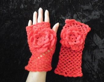 Crocheted Wrist warmers - fingerless gloves