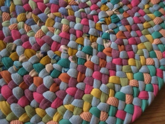 High Quality Ready To Ship Cotton Candy Small Braided Rug, Mat, Braided Table  Centerpiece, Or