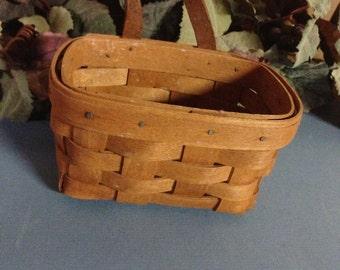 1990 Longaberger Lavender Booking Basket