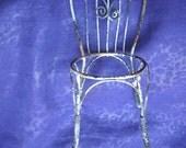 Miniature Cane Chair  -  Fairy Size - Barbie Size