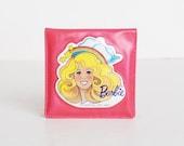 Vintage 80s Barbie Pink Vinyl Makeup Mirror