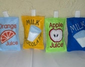 Felt Juice Boxes Milk Carton